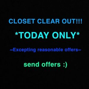 BACK TO SCHOOL CLOSET CLEAR OUT!